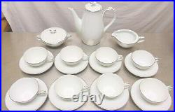 Vintage Noritake Colony 5932 Coffee Pot Sugar Bowl Creamer Tea Set 8 Cups Saucer