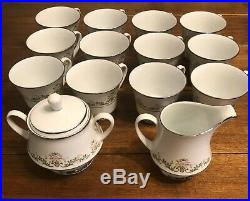 Vintage Noritake Contemporary China Early Spring Service for 12, 64 piece set