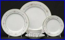 Vintage Noritake Fairmont Platinum Trim China Set 12 Place Settings