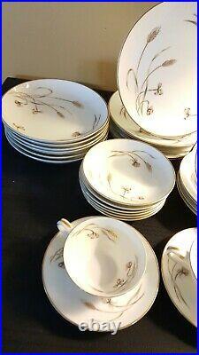 Vintage Noritake Fine China HARVESTER 5562 Dinnerware Place Settings Gold Wheat