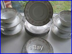 Vintage Noritake Fine China Saucers and Cups Set 14 Pc (2) Floral