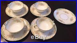 Vintage Noritake Floral Jasmine Set of 4 Soup Bowl Plate Lot Cups Bowls China