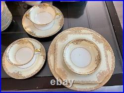 Vintage Noritake Hand Painted 1930s Goldcella 7267 Fine China Dinnerware Set 81