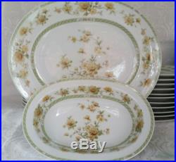 Vintage Noritake Ireland Amapola #2764 Fine China Dinner Set For 12 Ireland Excl