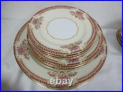 Vintage Noritake Japan China Royal Ruby Service For 4 32 Pcs 7 Place Setting