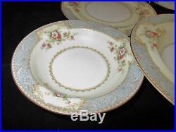 Vintage Noritake Occupied Japan Porcelain China 80 Piece Set Blue Dawn