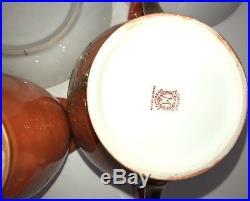 Vintage Orange Noritake China 10 Pc Set Made in Japan Gold Hand Painted