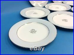 Vintage Set 8 Used Noritake China Japan 5543 Mavis 8.25 Plates Dishes