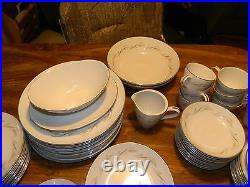 Vintage Set of (87) Pieces Rose China Japan Wheatcroft Pattern #3522 Excellent