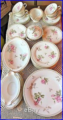 Vintage noritake, priscilla 35pc china set, dinner, salad, bread & butter, gravy