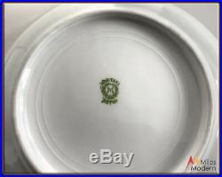 Vtg. 1910 Noritake Porcelain China Estate Set 67 Pc. Pink, Black, Gold Serves 12