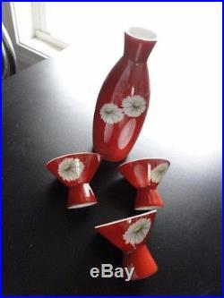 Vtg Noritake China Nippon Toki Kaisah Japan 4 Piece Sake Set Pattern N 1043