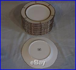 Vtg Set 8 Noritake Contemporary Fine China Salad Plate Buckingham Gold 4346